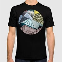 Angles of City Structures Mens Fitted Tee Black SMALL