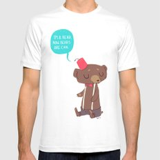 I am a bear now. Bears are cool. White Mens Fitted Tee SMALL