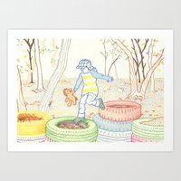 Autumn Fun Art Print