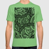 Pattern Mens Fitted Tee Grass SMALL