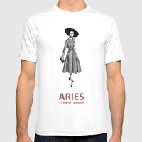 Aries Mens Fitted Tee White SMALL