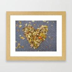 Couer de l'Automne Framed Art Print