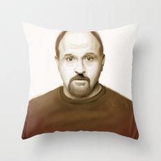 Louis Ck Throw Pillow
