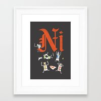 Ni! Framed Art Print