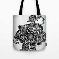 Robotic Bird Tote Bag