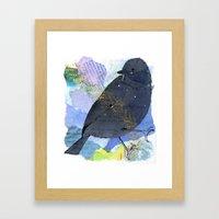 Vinter fugl Framed Art Print