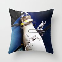 Milky | Collage Throw Pillow