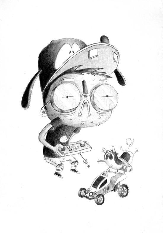 Ugly kids - Hamster Car Art Print