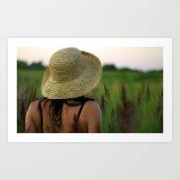 Girl's Summer Evening I… Art Print