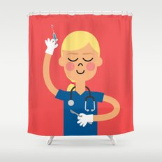 Surgery with a Smile Shower Curtain