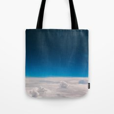 Blue and White at the sky Tote Bag
