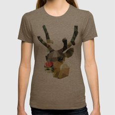 Poor Rudolph - Christmas Womens Fitted Tee Tri-Coffee SMALL