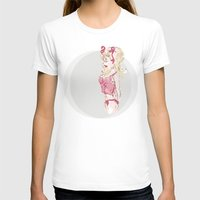 Blondy Girl Womens Fitted Tee White SMALL