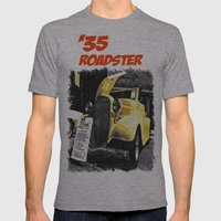 Classic yellow roadster Mens Fitted Tee Athletic Grey SMALL