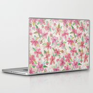Pink Painted Blossom Pat… Laptop & iPad Skin