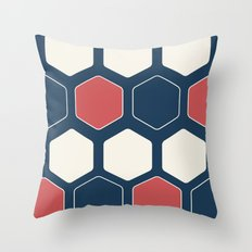 Hexed Navy Throw Pillow
