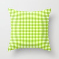 Picnic Pals gingham in citrus Throw Pillow
