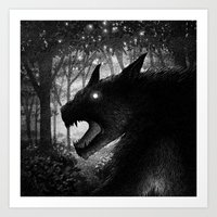 Drawlloween 2015: Werewolf Art Print
