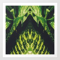 50 Shades Of Green (5) Art Print