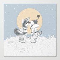 Eskimo kiss Canvas Print