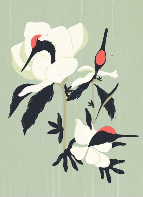 Crane Flower(鶴花) Art Print