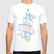 All I need SMALL Mens Fitted Tee White