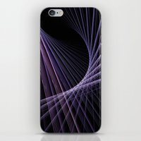 Purple Lines iPhone & iPod Skin