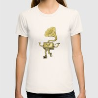 gramaphone Womens Fitted Tee Natural SMALL