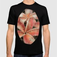 Percolated Tropical Flow… Mens Fitted Tee Black SMALL
