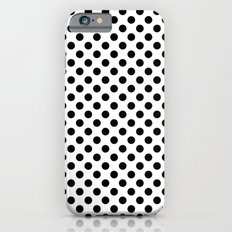 Black and white polka dots iPhone 6 Slim Case
