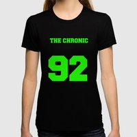 The Chronic Varsity Womens Fitted Tee Black SMALL