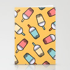 Bubble Tea Pattern Stationery Cards