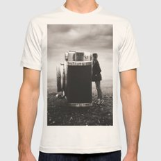 Looking Through Time Mens Fitted Tee Natural SMALL