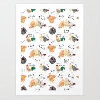 Chick -Chick - Chick - C… Art Print