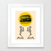 Hamburger Pray Framed Art Print