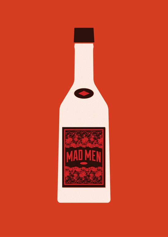 Bottle Mad Men Art Print
