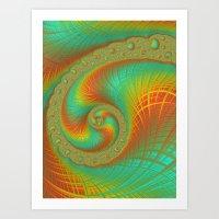 JuliaBrot Spiral Art Print