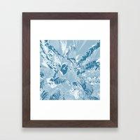 The blue mask Framed Art Print