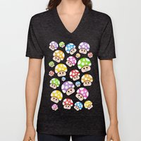 Iddy Diddy Mushrooms  Unisex V-Neck