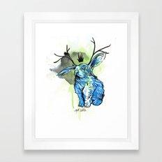 Blue Jackalope Framed Art Print