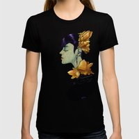 Citrine  Womens Fitted Tee Black SMALL