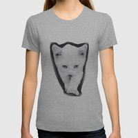 Cat Womens Fitted Tee Athletic Grey SMALL