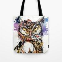 Owl Sounds Tote Bag