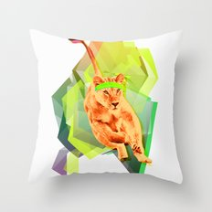 Lioness fitness Throw Pillow