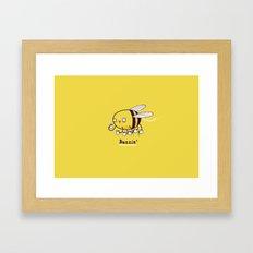 Buzzin Framed Art Print