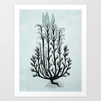 Plant With Blue Flowers Art Print