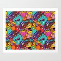 More Monsters, More Patterns Art Print