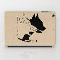 Hand-shadows Mr Dog iPad Case