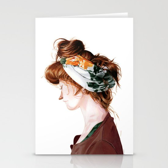 Red Head Stationery Card