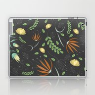 Floral Grey Pattern Laptop & iPad Skin